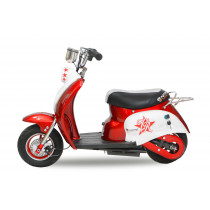 Elektrische mini Retro Scooter 350W rood