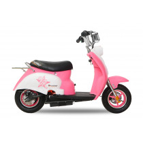 Elektrische mini Retro Scooter 350W roze
